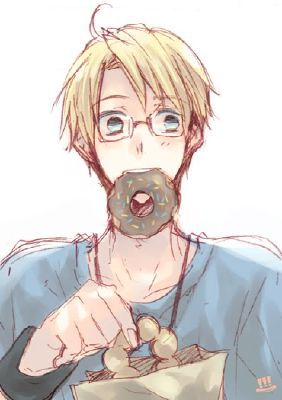 Donuts ○ America x Shy!SocialAnxiety!Reader ○ | Anime one