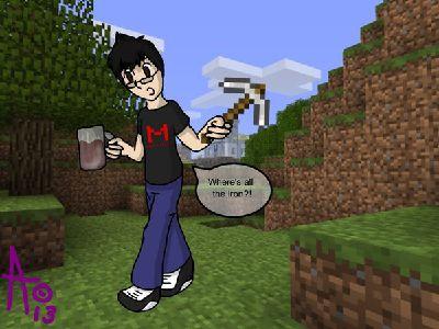 Drunk Minecraft? [Markiplier x Reader]
