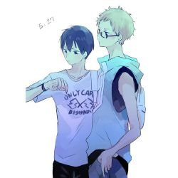 Let's Go Back [Kageyama x Amnesia!Reader x Tsukishima]