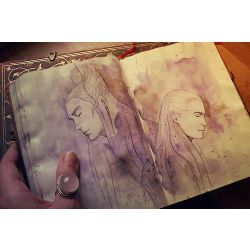 The Hobbit: Legolas x FemaleBilbo x Thranduil