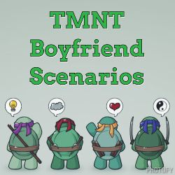 Swimming | TMNT Boyfriend Scenarios