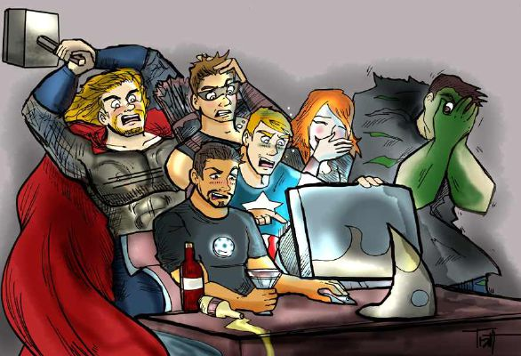 Avengers X Shy!Reader