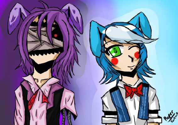 Human! Withered! Bonnie x Female! Reader x Human! Toy Bonnie