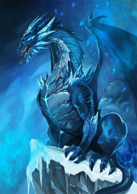 Icicle the Ice Dragon *Adopted*   Dragons and Other Mythical Creatures (For Adoption)