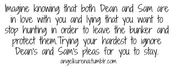 Sam x Reader x Dean imagine #80 | Supernatural imagines