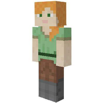 minecraft steve and alex image
