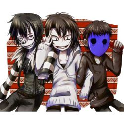 Never Alone (Laughing Jack x Reader x Jeff The Killer x