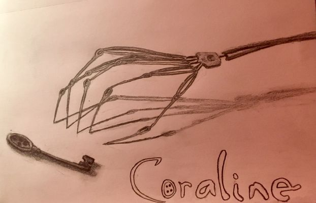 Needle Hand Key Coraline Drawing Book