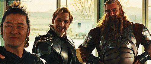 Mighty Warriors - Volstagg and Hogun   Mere Mortal (Loki x