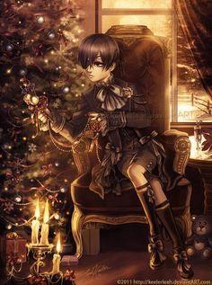 Daddy! Ciel x Child! Reader - Christmas Morning | Black