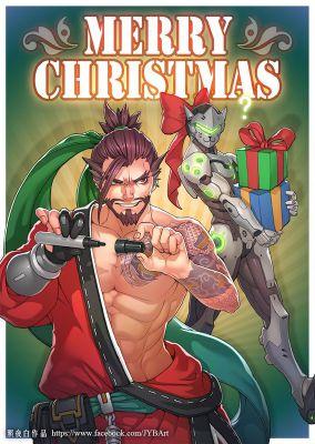 Genji x Female!Reader - Christmas | Overwatch Boyfriend Scenarios