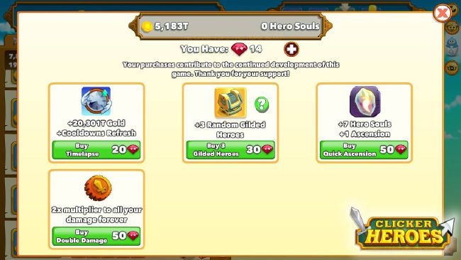 Clicker Heroes - Test