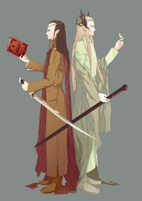 A Tale of Two Elves (Elrond and Thranduil Imagine) | The