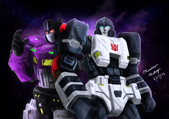 Shattered glass! Megatron x reader   Transformers prime/ bayverse