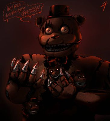 Stop! (Nightmare Freddy X Easily Scared!Reader) | Five