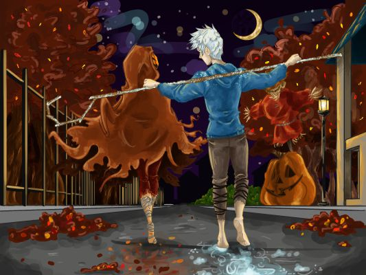 a frosted halloween  harvest  jack frost x reader