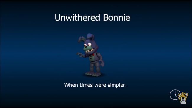 Unwithered Bonnie | Fnaf World Characters and Fan Made