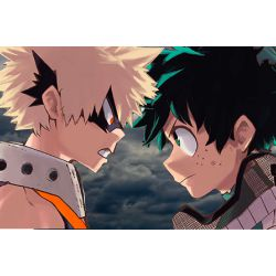 Something to fight for //Izuku Midoriya x Reader x Katsuki