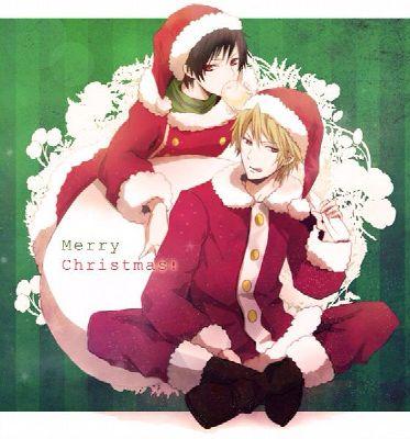 Christmas Special #3 DRRR Shizuo x Izaya's sister! reader