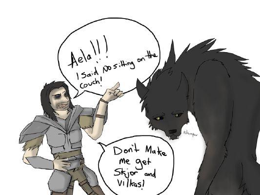 Big Bad Wolf - Aela x Male!Reader | Random One Shots