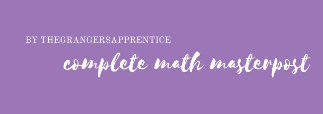 Math Masterpost | Study Guide on