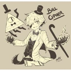 I've Known You For So Long      (Human!Bill Cipher X Nice