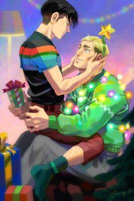 Christmas) Attack On Titan: Erwin x Levi ~AU~ | Various Oneshots 2