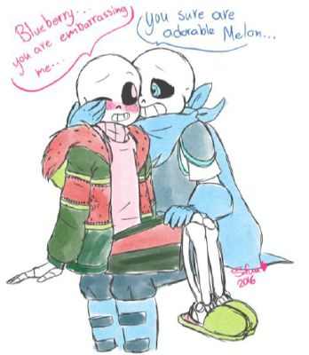 Melon x Reader x Blueberry (Lemon) | Undertale One shots and
