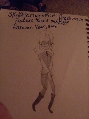 Angelinn In Future Toms Outfit Art Book Come Have Fun Drawing Painting Or More