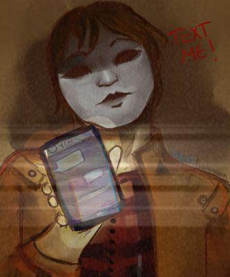 Text me | Masky x Reader