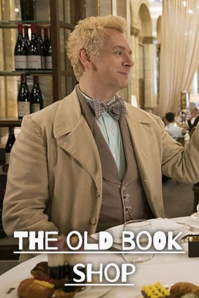 The old book shop: Aziraphale x Reader