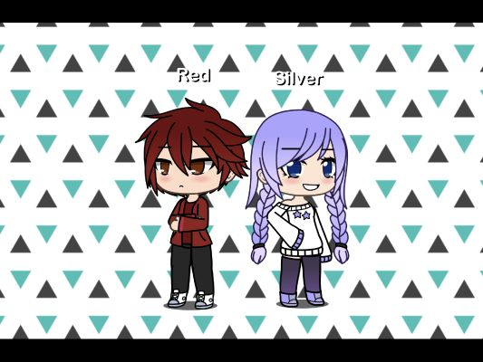 Gacha Life Humanized Red And Silver Before A Book Where We